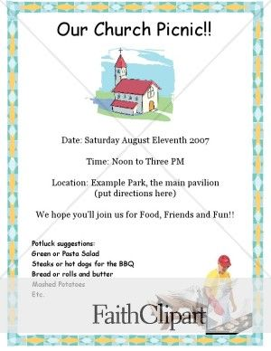 examples of flyers for kickoff women ministry | Church Picnic and Barbecue Flyer | DC Hidden