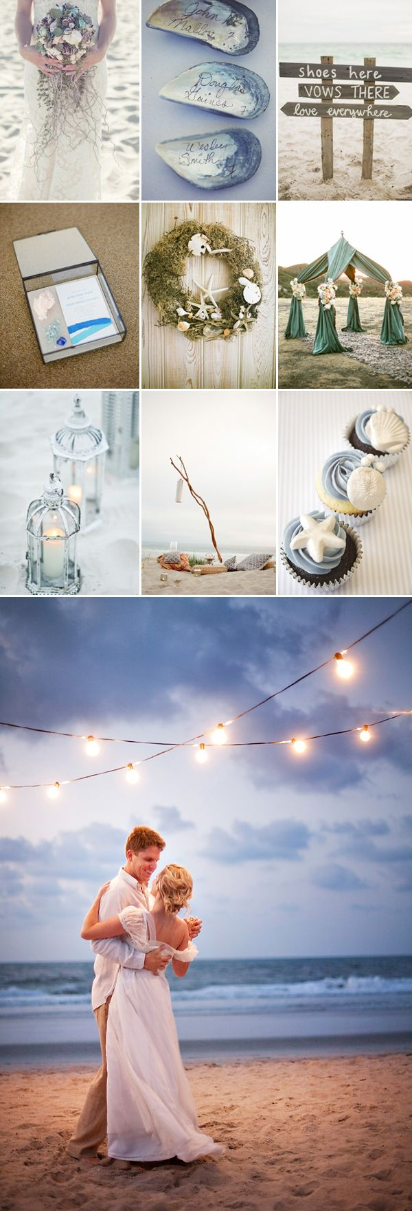 Beach Seaside Wedding Inspiration Board