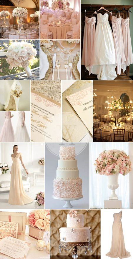 gold and blush wedding colours