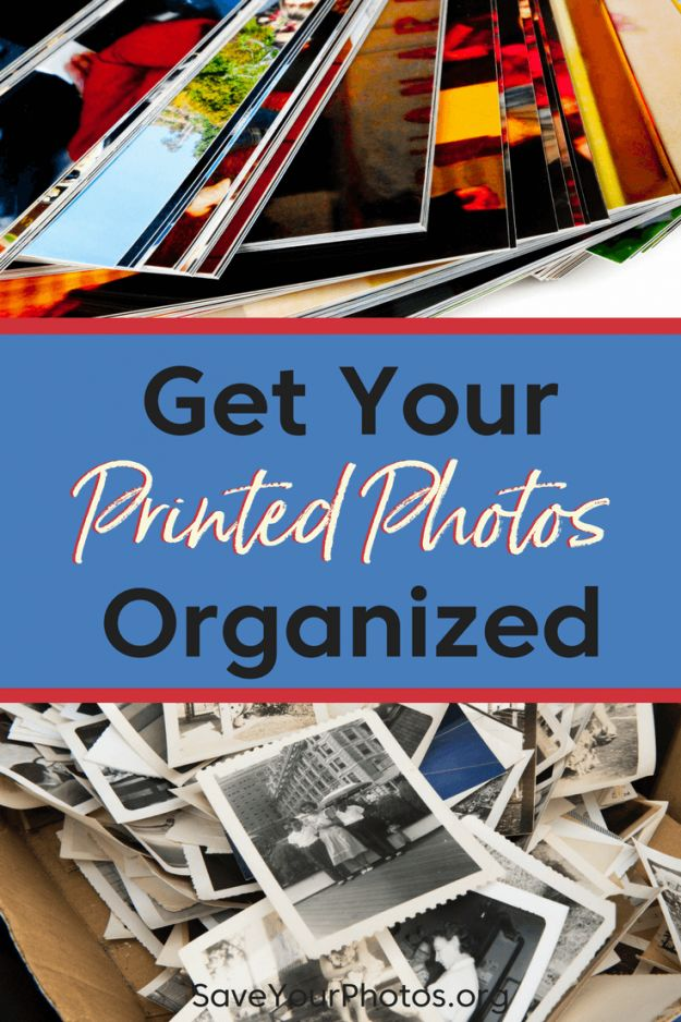 Get your printed photos organized with these 5 easy steps.   SaveYourPhotos.org