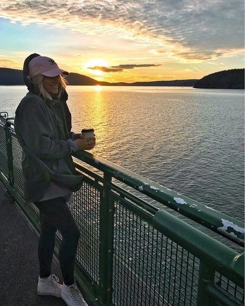 Kicking off 2018 with the most beautiful sunrise, a hot coffee, & good company for a ferry ride back from a perfect weekend. ✨ My jacket is only $17 and comes in so many colors, I love it paired with my leather leggings & pink hat! @liketoknow.it http://liketk.it/2u4SP . . .  #liketkit #LTKsalealert #LTKstyletip #LTKshoecrush #LTKunder100 #LTKunder50 #bresheppard #sunrise #ootd #casualstyle #pnw #happynewyear #inspo