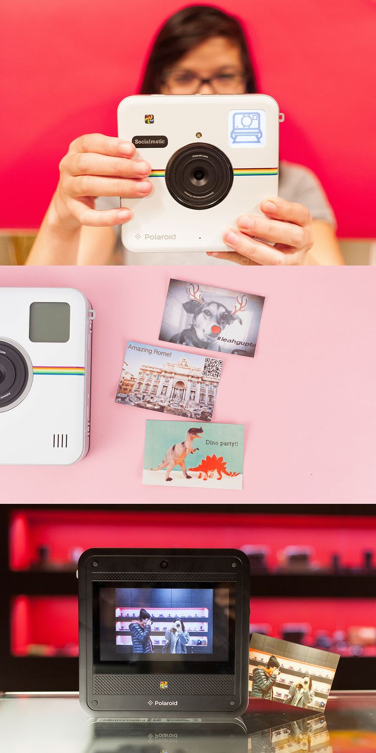 Instantly snap photos, print them out and even share online with the Polaroid Socialmatic! ($299.99)