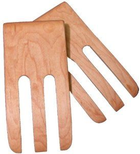 """6"""" Salad Fingers (Bear Claws) - Maple by Brentwood Mills. $11.99. With simple care will last a lifetime; Food Safe; Green and Environmentally Friendly; Handmade woode Salad Fingers - Maple; Made in US. Beautiful and increasingly rare 6"""" wooden (Maple) utensils made almost entirely by hand in accordance with old traditions by one of the finest remaining craftsman in the US. Green & environmentally friendly. Made from renewable resources. Completely Food Safe. With m..."""