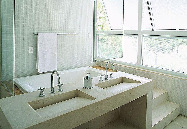 Banheiro c/ hidro - Pia moderna