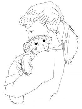 Lisa Hugging Corduroy (Corduroy activities)