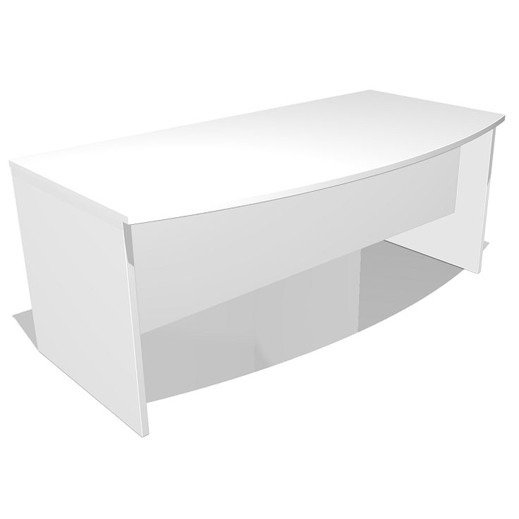 Just with Bow Front Desk - The Just executive office desk with a bow front features a curve to the front of the worktop. Our Just corporate office furniture range offers a range of sizes, colours and configurations to suit any office.