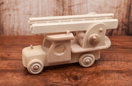 VENTE  Incendie jouet bois-camion voiture par TheWoodPeckerFactory