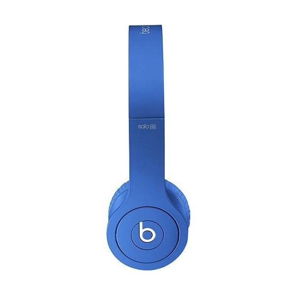 Beats by Dr. Dre Beats Solo HD On-Ear Headphones Drenched in Blue ($200) ❤ liked on Polyvore featuring electronics, headphones, phones, tech and accessories