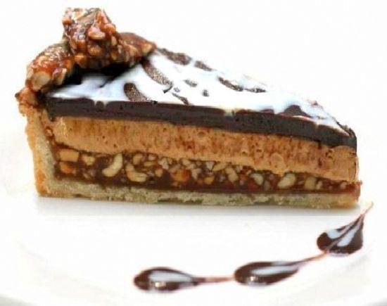 Double Chocolate, Salted Peanut Caramel, Peanut Butter Tart