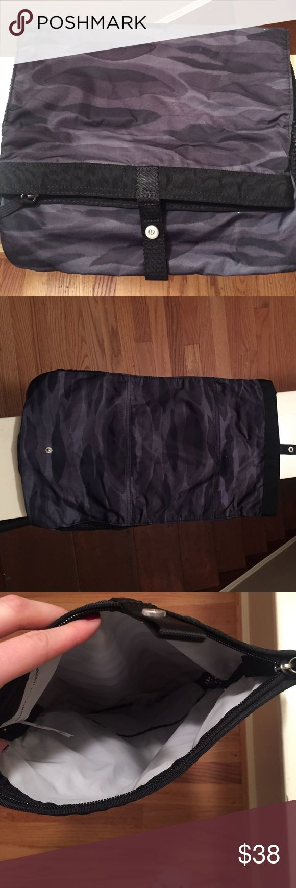 lululemon athletics traveling cosmetic bag Never been used before. Very cute army print lululemon athletica Bags Cosmetic Bags & Cases