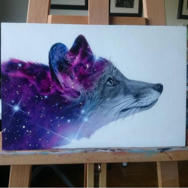 Galaxy Fox By @afjelnseth _ Also check out our fellow art ...
