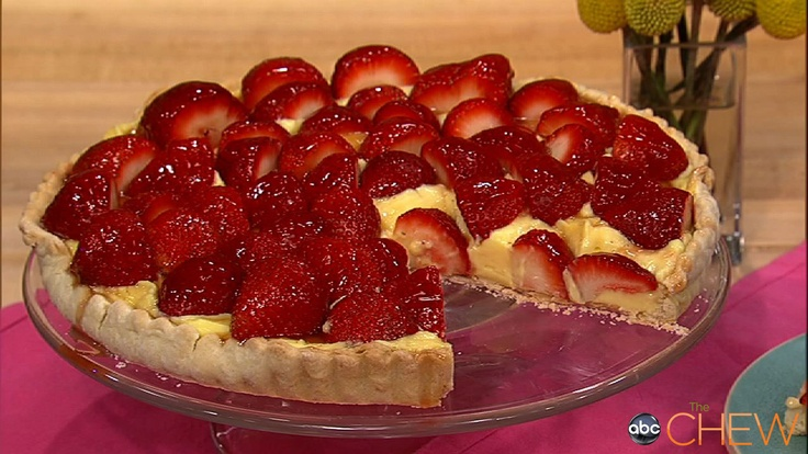 Look at this Clinton Kelly's Strawberry Tart recipe. On The Chew. This ...