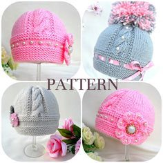 Baby Hats by Elena Mitchell @ Solnishko43 - pattern (incorporated in other patterns)                                                                                                                                                                                 More