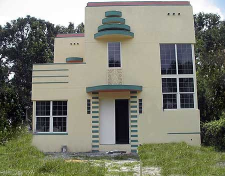 Plan 44025td art deco home plan art deco box and for Art deco house design