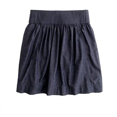 J. Crew Chambray Skirt, $55: Chambray Clambake, Dream Closet, J Crew, Clambake Skirt, Jcrew Chambray