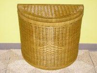 Indo ratanový prádelní koš půlkulatý - světlý