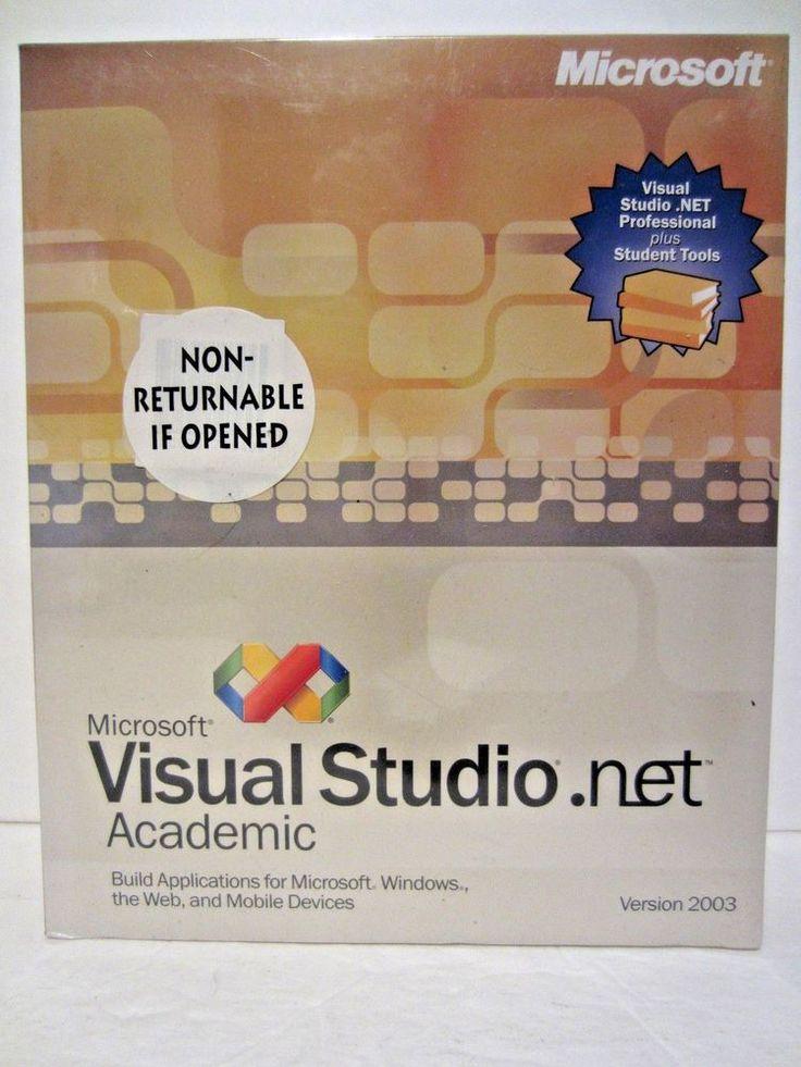 Microsoft Visual Studio .Net 2003 Academic Version New In Box #Microsoft
