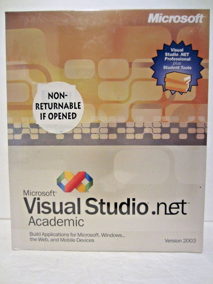 Microsoft Visual Studio .Net 2003 Academic Version New In Box #Microsoft