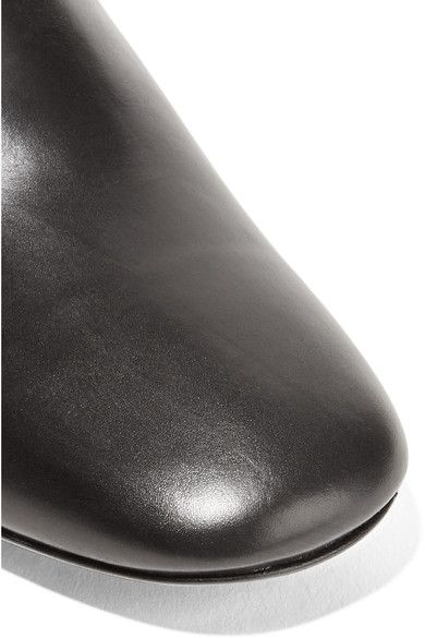 The Row - Adela Leather Mules - Black - IT38.5
