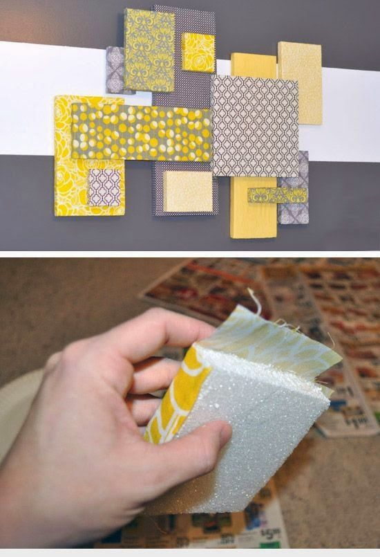 wonderful cheap material then wall decor also diy art style