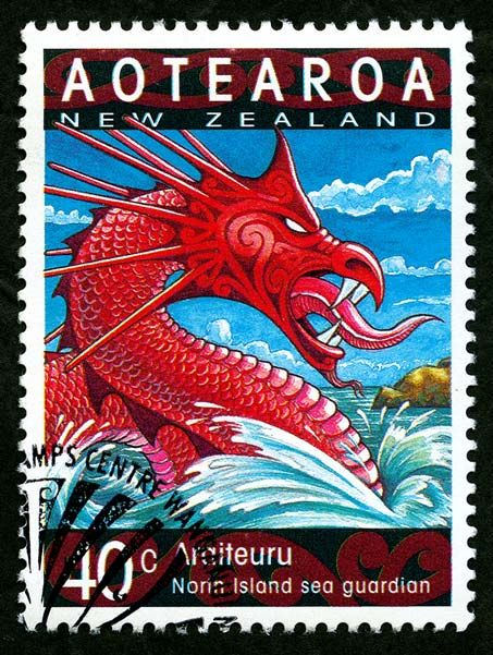 The Taniwha - immortalised on a postage stamp