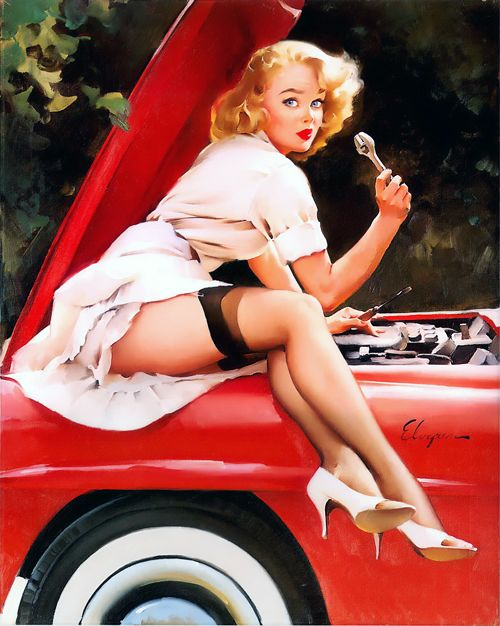 """Help Wanted"" by Gil Elvgren, 1960"