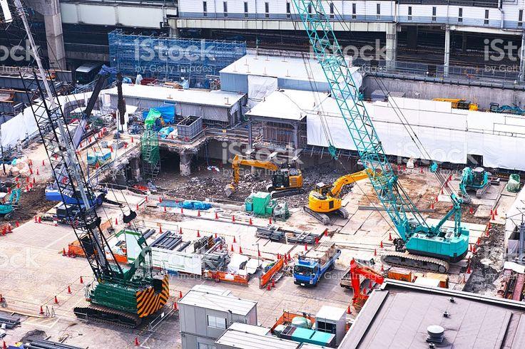 Строительство сайт Станция Сибуя Восток – роялти-фри стоковая фотография