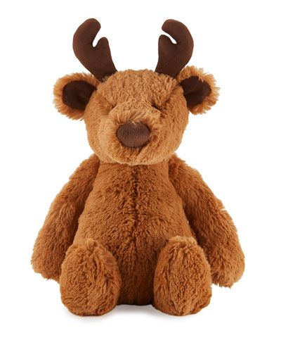 Jellycat+Bashful+Reindeer+Stuffed+Animal+Brown