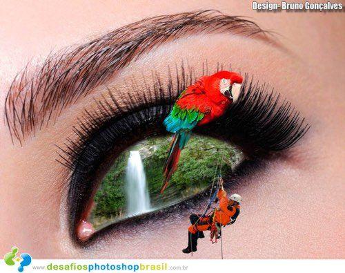 Artista: Bruno Moreira - Nossos olhos s‹o a inspira‹o essa semana aqui na DPB! - Desafios Photoshop Brasil