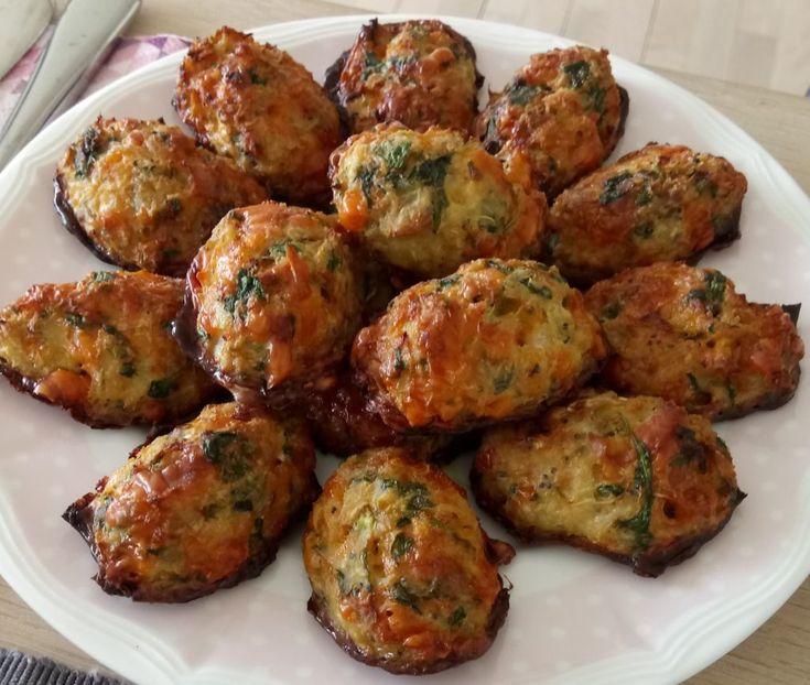 Blomkåls-cheese-toppe med spinat og cheddar - en ny og lækker variant - Rikkes Rester