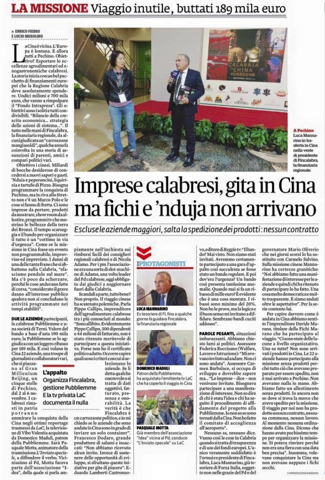 Calabria esaurita, Calabria exhausted!
