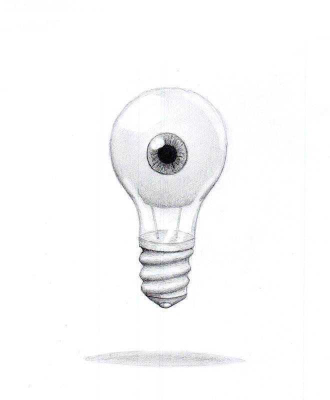 oeil ampoule surréalisme