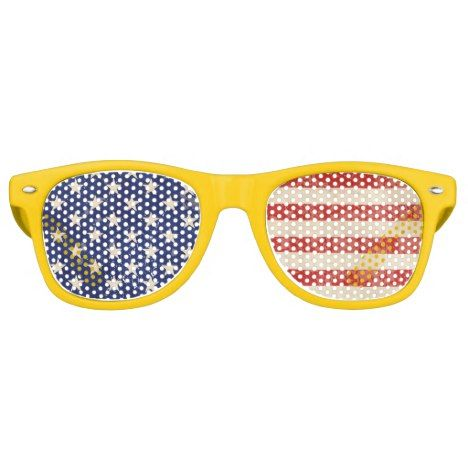 Vintage American Flag Retro Sunglasses