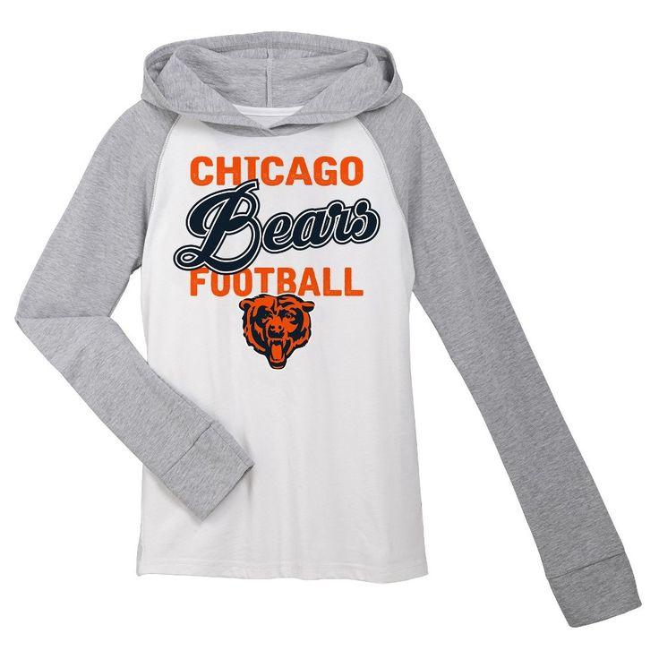 T-Shirt Chicago Bears Team Color L, Girl's, Gray White