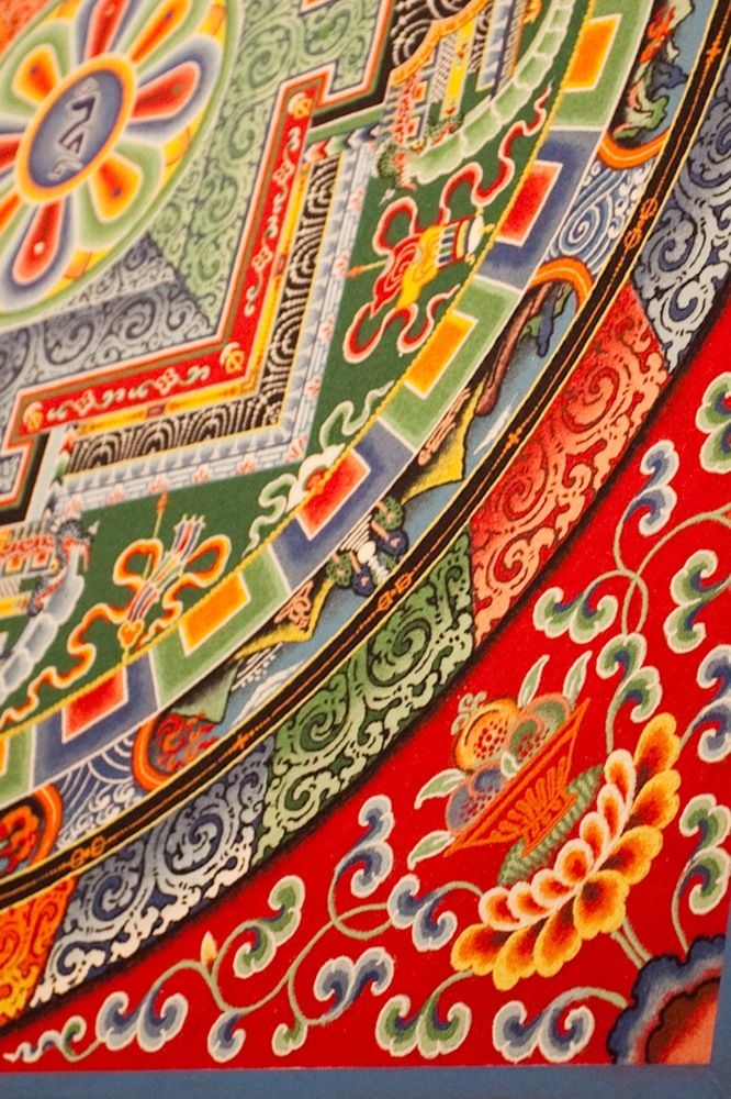 Tibetan Monks Create Wildly Intricate Sand Painting, Before Washing It All Away Completely #sandart