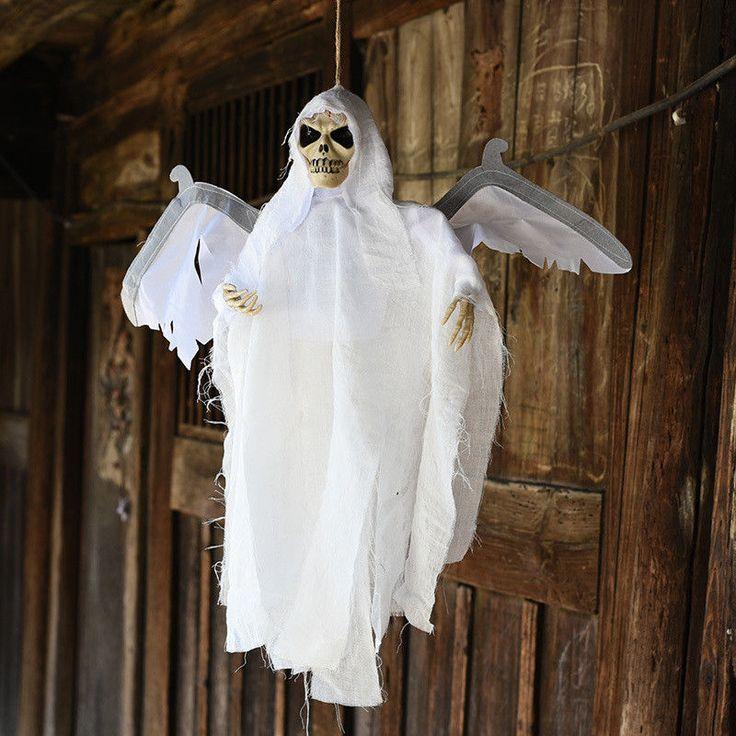 New Halloween Party Decoration Sound Control Creepy Scary Animated Skeleton #hungangel #hangingangel #deathangel