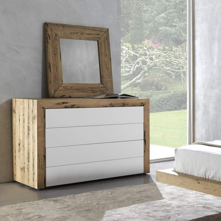 Dresser Cloud in Venice's briccole wood with honeycomb structure and front drawers with push-pull full extension.