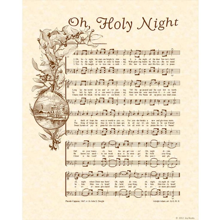OH HOLY NIGHT...I love this song.  It's one of those songs that causes my voice to catch when I sing it.  It truly moves me.: Christmas Decoration, Hymn Art, Art Prints, Antique Hymn, Music Room, Music Sheet, Holy Night