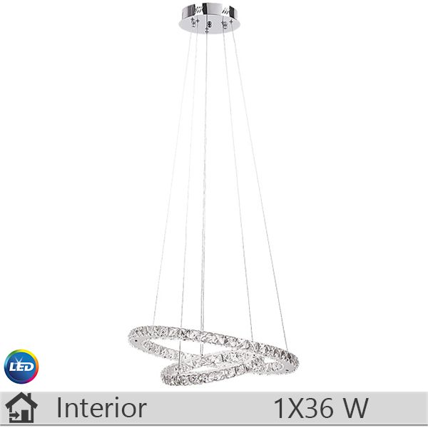 Lustra LED, iluminat decorativ interior Rabalux, gama Carrie, model 2442