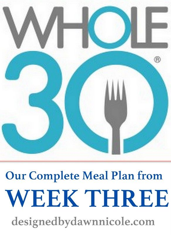 Week 3′s Complete Meal Plan #whole30