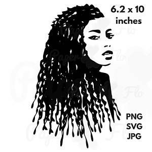 Dreadlocks SVG Clip Art locs SVG files african american art black girl svg digital art african clip art black woman birthday tshirt svg   #dreadlockssvg #dreadlocksvg #paperflodesign #blackgirlsvg