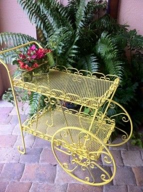 Very cute serving cart.
