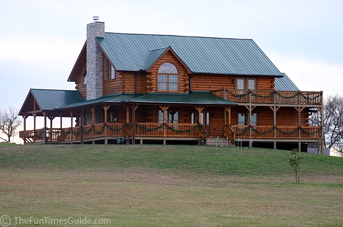 Love Love Love Dream Home Log Cabin Green Tin Roof