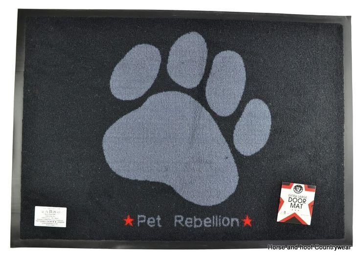 Pet Rebellion Door Mat Extra Large Machine washable nylon with non-slip PVC backing Heavy Duty