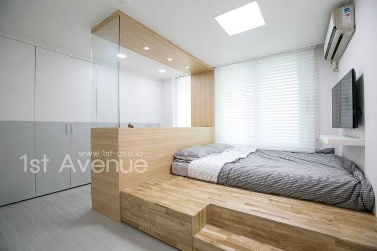 가족들에게 꼭 맞춰진 아이템들로 채워진 새집같은 우리집 리모델링  : 퍼스트애비뉴의 모던 침실
