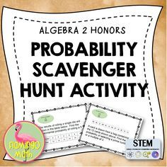 Get this great activity designed to help your Algebra 2 students understand permutations, combinations, theoretical and experimental probability, independent and dependent events, two-way tables, conditional probability, and compound events at the end of the unit on Probability.  There are 12 task cards in the activity.