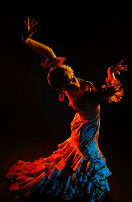 And, something colorful and warm on this cold Winter's day...photo via Flamenco Chicago.