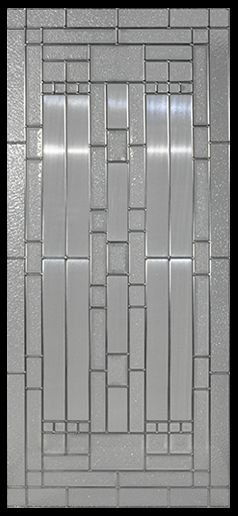 Stained Glass Door Inserts - Waterfall 22x48 Zinc