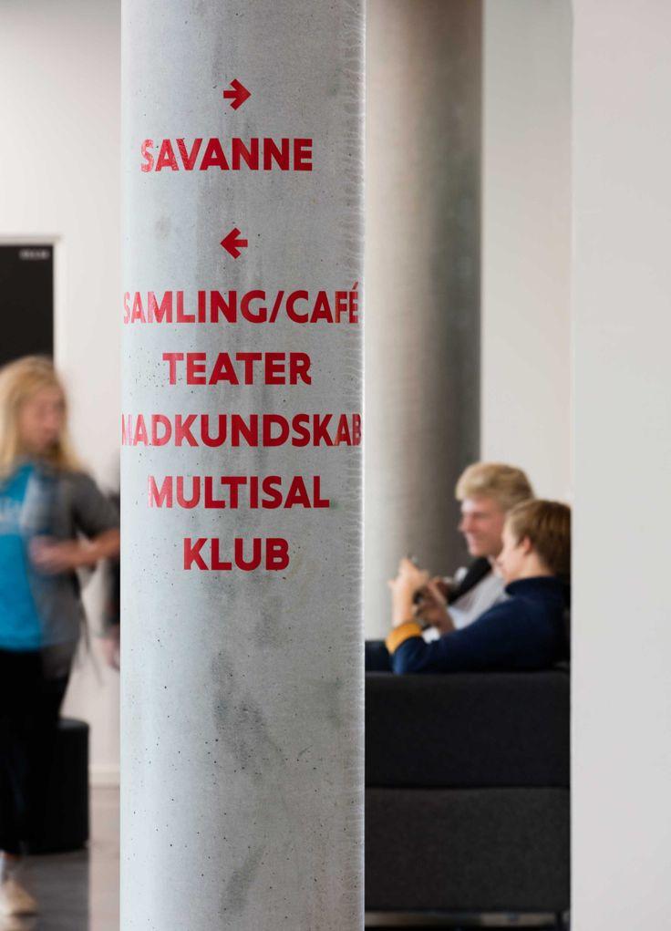 Wayfinding at Frederiksbjerg School, Aarhus, Denmark