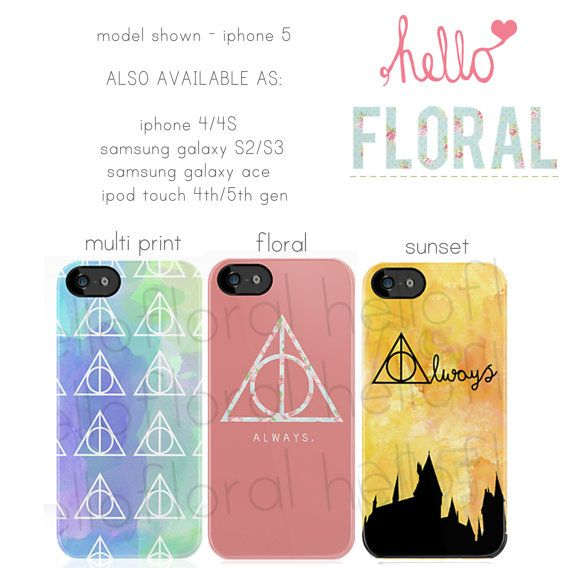 Harry Potter Inspired  iPhone 4/4S 5 Samsung Galaxy by hellofloral, £15.00